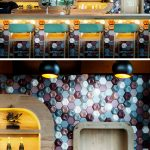 Wall Decor Idea This Cafe Covered Their Walls With 3d Concrete Tiles