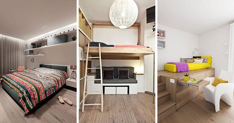 14 Inspirational Bedroom Design Ideas For Teenagers ... on Teenager Simple Small Bedroom Design  id=78084