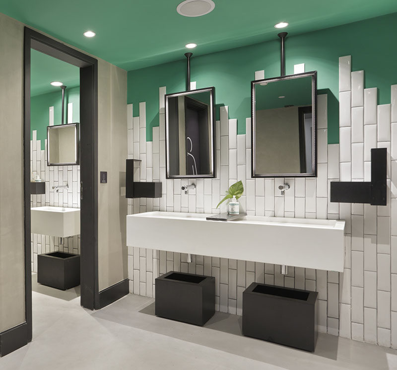 Bathroom Tile Idea - Stagger The Tiles Instead Of Ending ... on Bathroom Tile Pattern Design  id=30236
