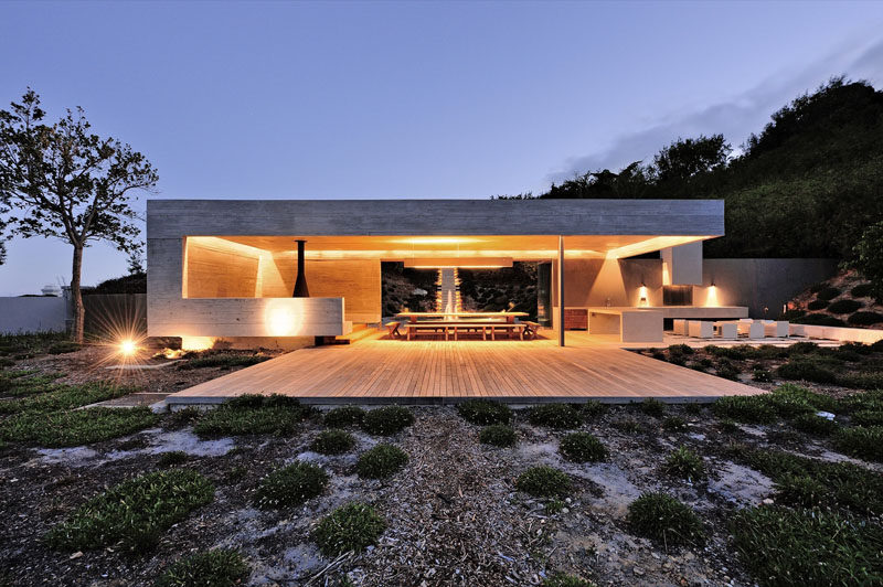 This Concrete Garden Pavilion Was Designed With Multiple ... on Outdoor Patio Pavilion id=95709