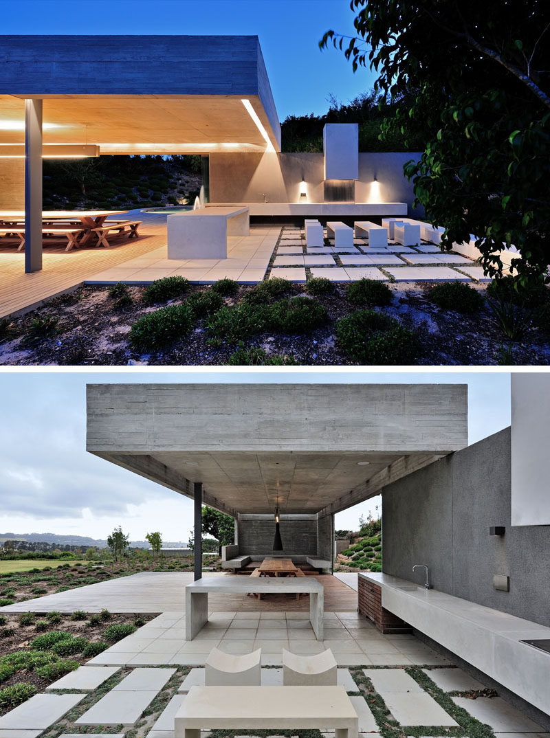 This Concrete Garden Pavilion Was Designed With Multiple ... on Outdoor Patio Pavilion id=46264