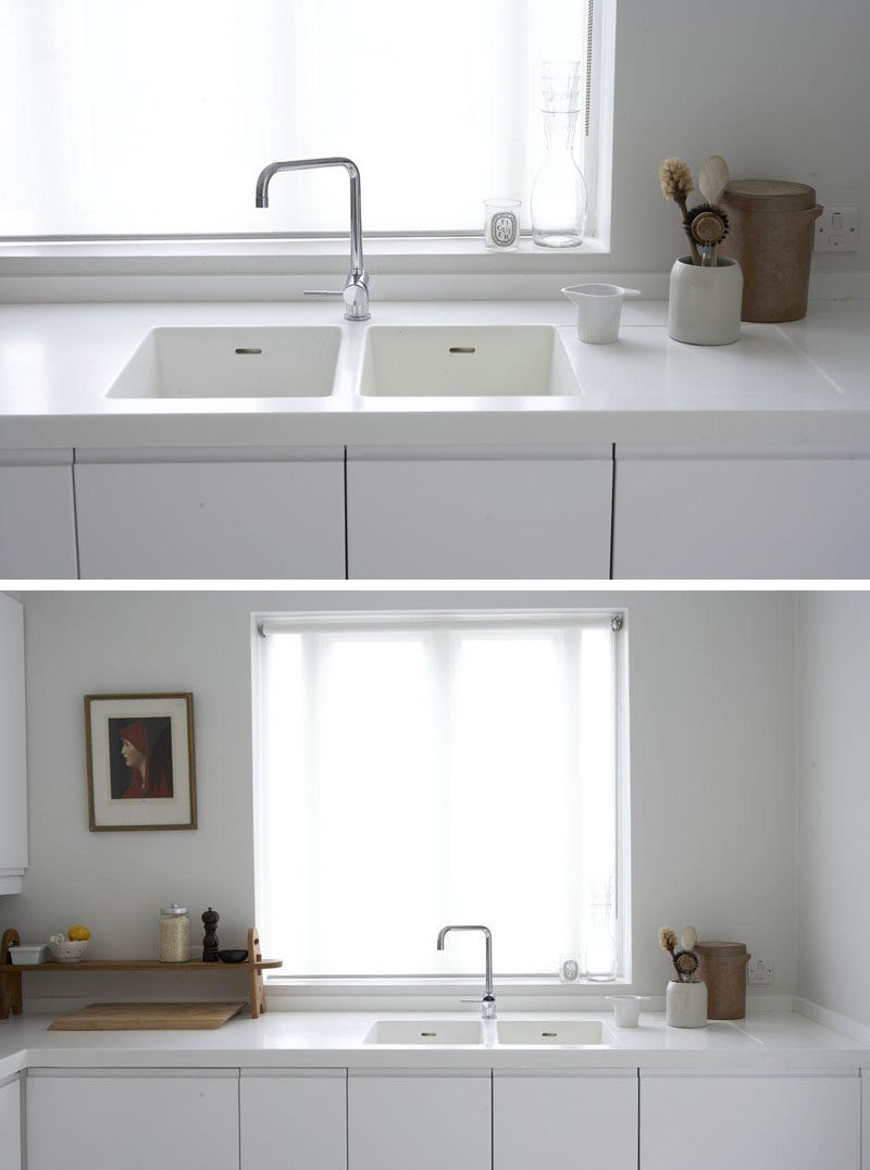 seamless kitchen sinks integrated into