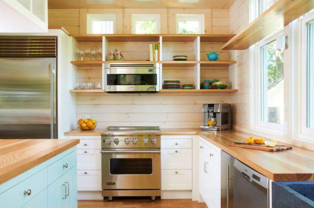 kitchen design idea - 19 examples of open shelving | contemporist