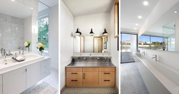 bathroom design idea - extra large sinks or trough sinks   contemporist