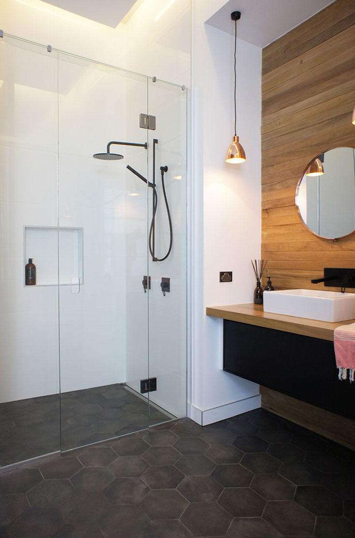 Bathroom Tile Ideas - Grey Hexagon Tiles on Small:j8V-Fokdwly= Bathroom Renovation Ideas  id=34370