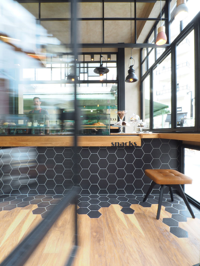 Hexagon Tiles Transition Into Wood Flooring Inside This ... on Modern:0Bjn4Cem9Be= Kitchen Counter  id=56809