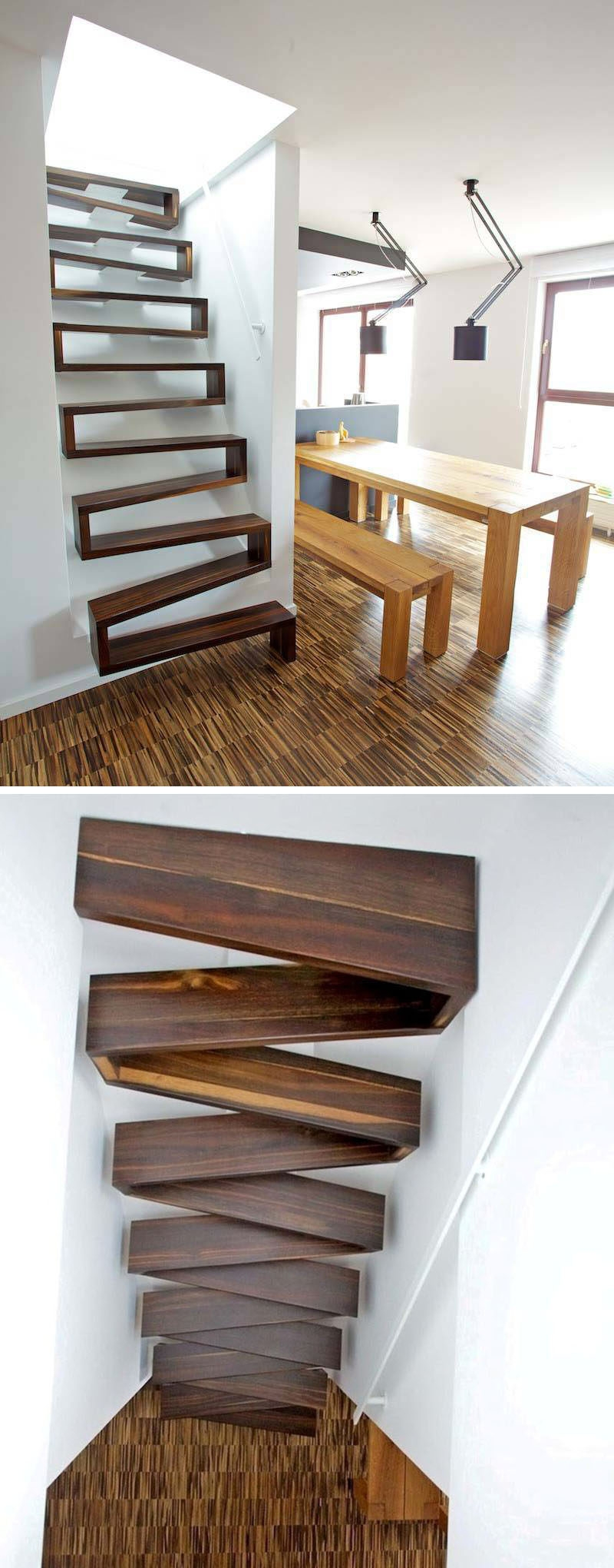 13 Stair Design Ideas For Small Spaces | Design Of Stairs In Small House | Living Room | Family House | Interior | Spiral | 4 Foot
