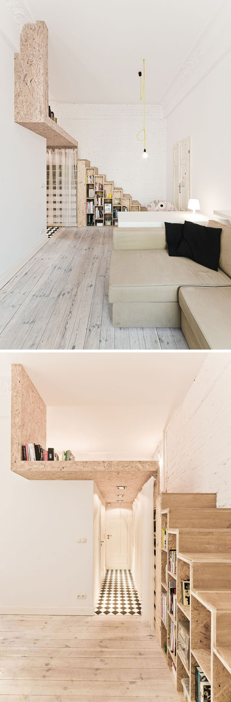 13 Stair Design Ideas For Small Spaces   Wooden Stairs Design For Small Spaces   Apartment   Cabinet   2Nd Floor Small Terrace Concrete   Residential   Outdoor