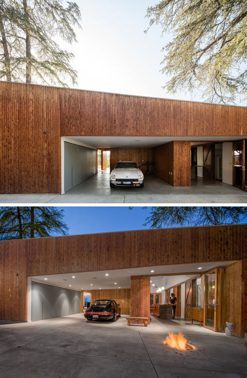 Best Kitchen Gallery: This Hillside House In Los Angeles Was Built Around A Tree of Modern Houses In Los Angeles on rachelxblog.com