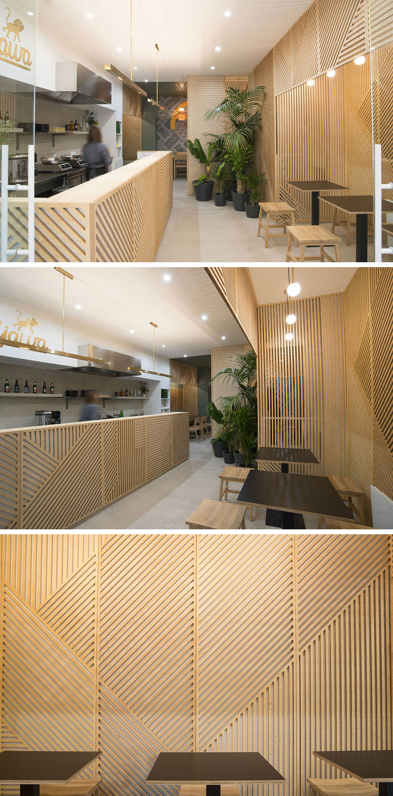 Wall Decor Idea This Restaurant Covered Its Walls With