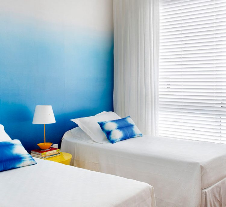 Bedroom Design Ideas Create An Ombre Wall For A Colorful Accent Wall