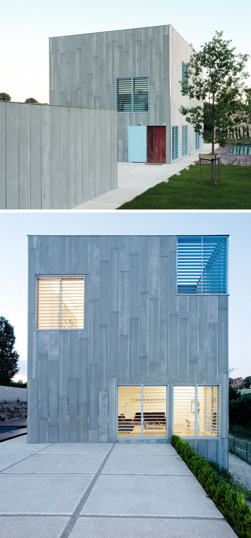 12 Minimalist Modern House Exteriors From Around The World ... on Modern House Siding  id=14979