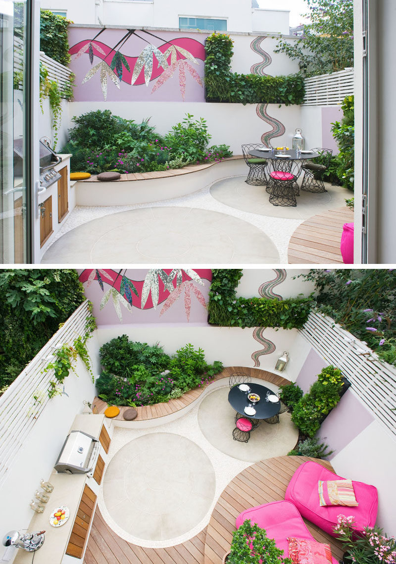 Backyard Landscaping Ideas - This small patio space is ... on Back Patio Landscape Ideas id=78810