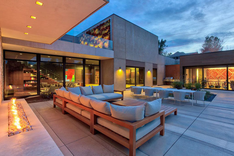 There are multiple living spaces inside this sprawling ... on Living Spaces Outdoor Dining id=61216