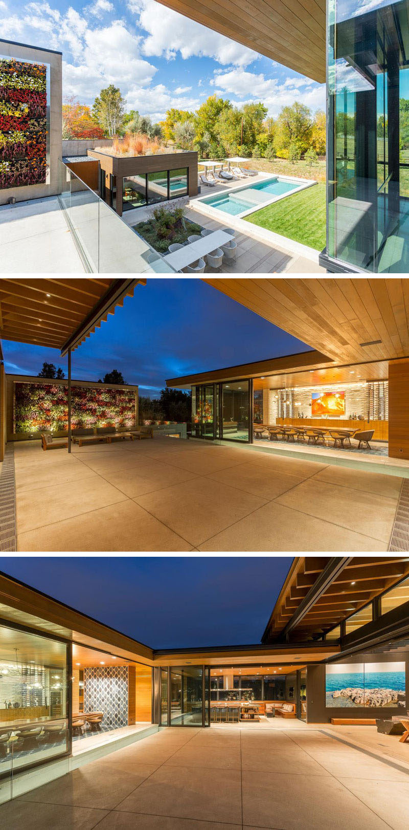 There are multiple living spaces inside this sprawling ... on Green Wall Patio id=99533