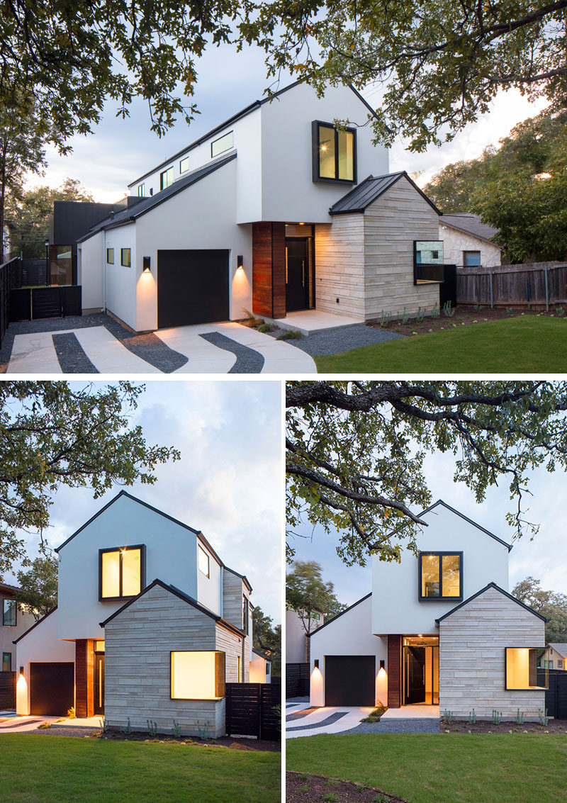 A Contemporary House With Peaked Roofs Arrives On This ... on Modern Style Houses  id=67376
