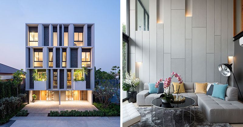 The Facade Of These Townhouses Welcomes Visitors With