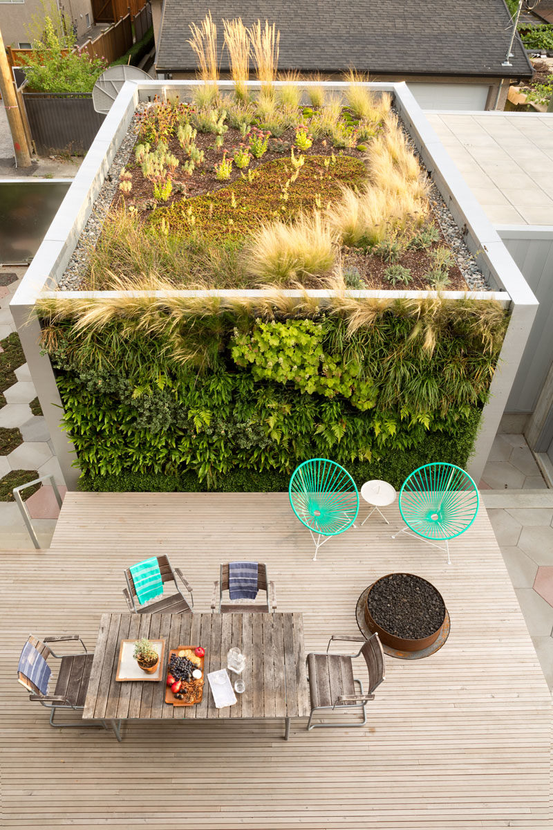 Carbonized Cypress Wood Covers The Exterior Of This New ... on Green Wall Patio id=68902