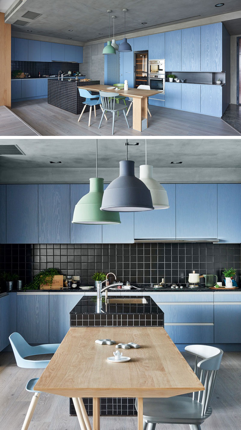 And Kitchens Black Accents Teal White