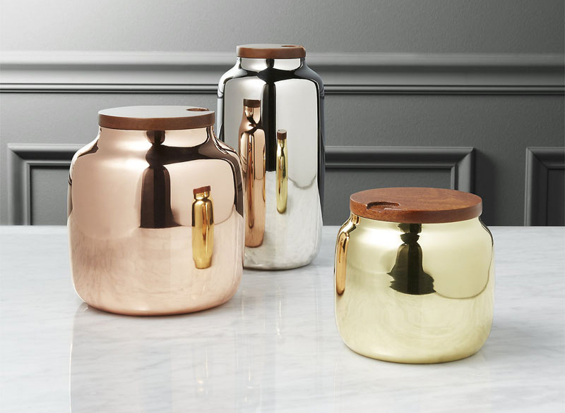 modern jars and canisters