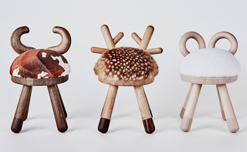 Japanese designer Takeshi Sawada, has designed a collection of quirky farm animal inspired stools for EO - Elements Optimal.