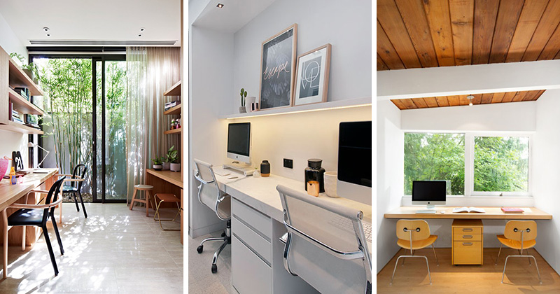 These office spaces for two people are functional and modern in design.