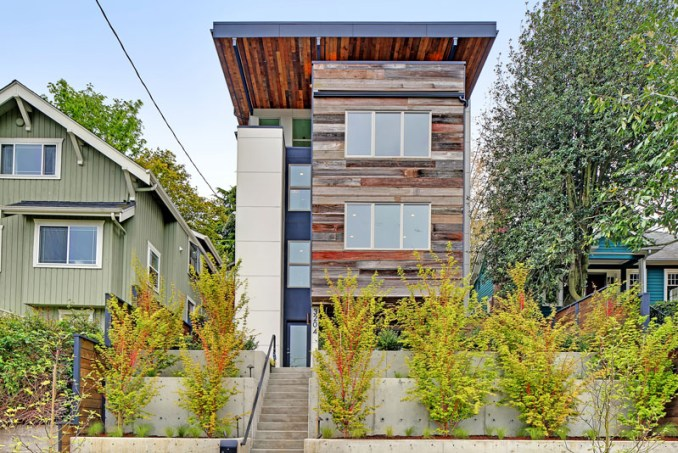 With sustainability in mind, this modern house in Seattle is made from recycled wood and locally sourced materials.
