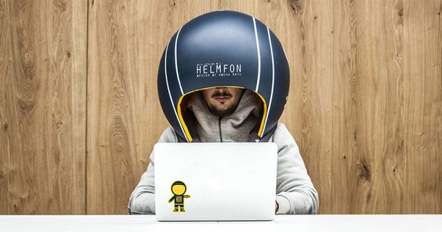 Ukrainian based Hochu rayu design bureau have come up with an idea for when your office or workplace gets too noisy. Named HELMFON, the helmet-like head gear allows you to completely tune out any surrounding sound.