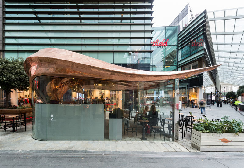 542 Copper Sections Were Used To Create The Curved Roof Of This London Cafe Architectural Autocad Drawings Blocks Details Download Center