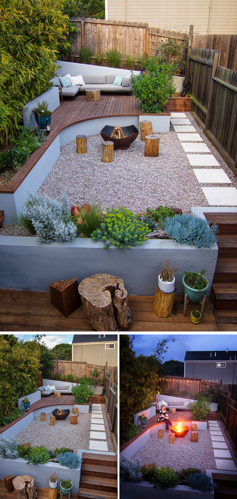 This Small Backyard In San Francisco Was Designed For ... on Modern Landscaping Ideas For Small Backyards  id=19708