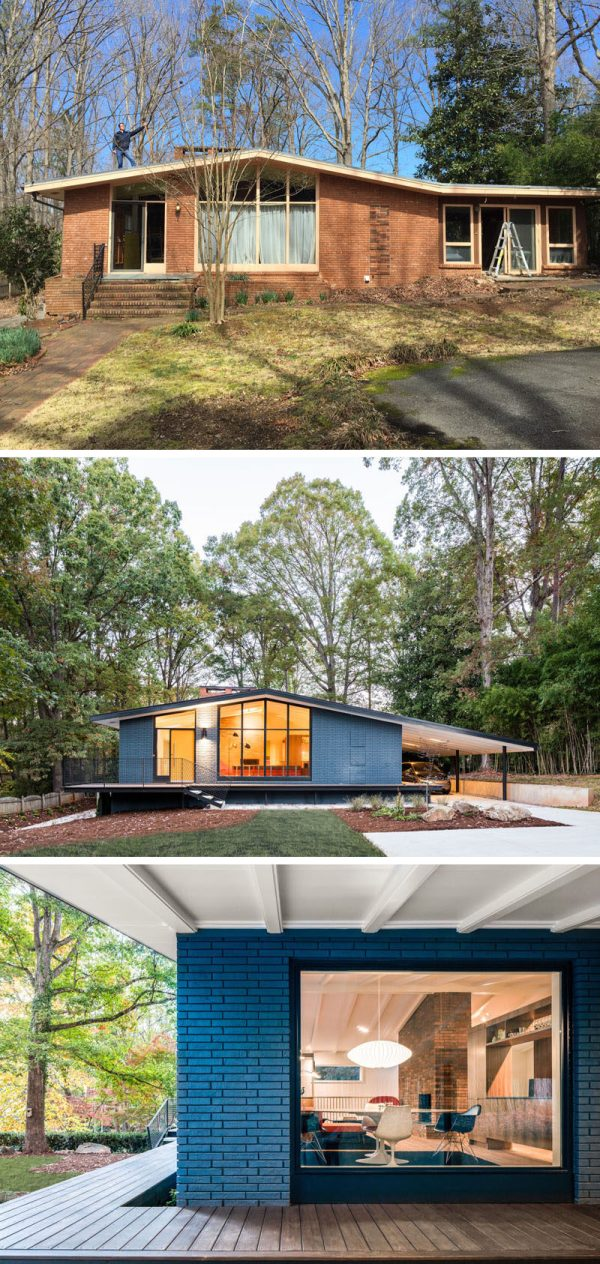 This Mid-Century Modern House In North Carolina Received A ...