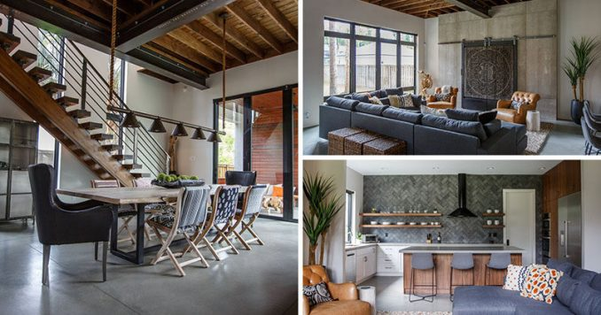 dig Architecture have designed and built this new home in Atlantic Beach, Florida, that features a contemporary interior with industrial elements. #InteriorDesign #Industrial #Contemporary