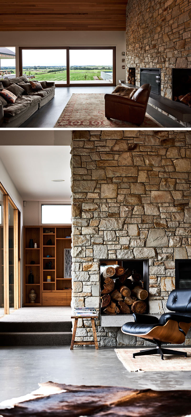 This Rural Home Combines Rustic Interior Elements With
