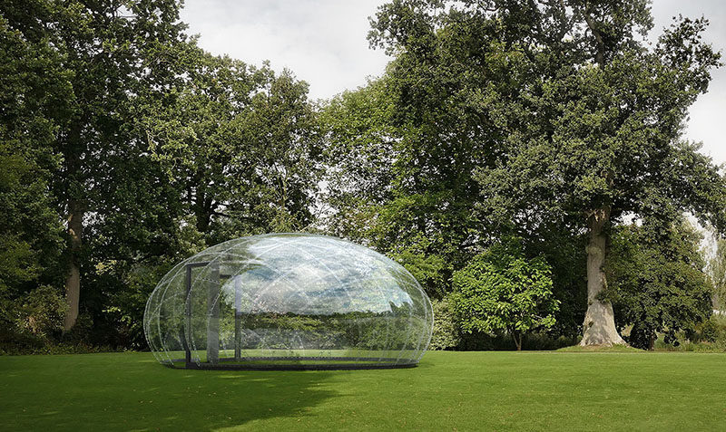 Danish architect Kristoffer Tejlgaard has created an outdoor structure named The Droplet, whose design was inspired by a single drop of water. #OutdoorStructure #BackyardDome #Architecture #Design
