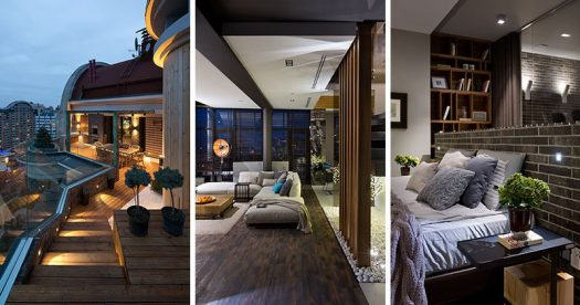 Natalia Oleksienko of Evolutionary Architecture has designed the interiors of a modern penthouse apartment in Kiev, Ukraine. #InteriorDesign #ApartmentDesign #Penthouse