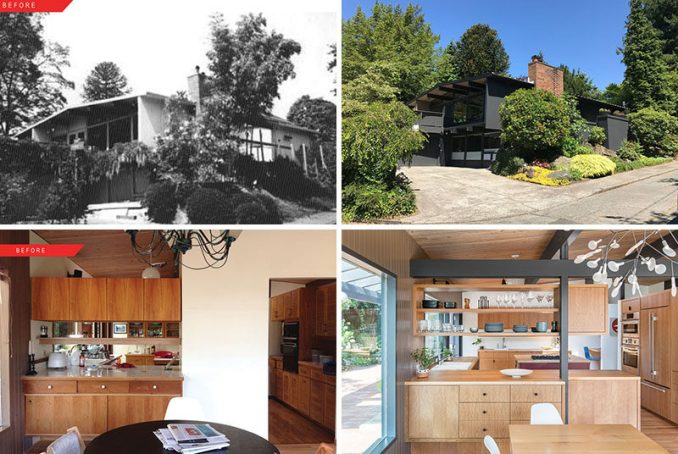 SHED Architecture & Design together with interior designer Jennie Gruss, have given a 1957 architect-designed mid-century home a fresh update for a young family in Seattle, Washington. #MidCenturyRemodel