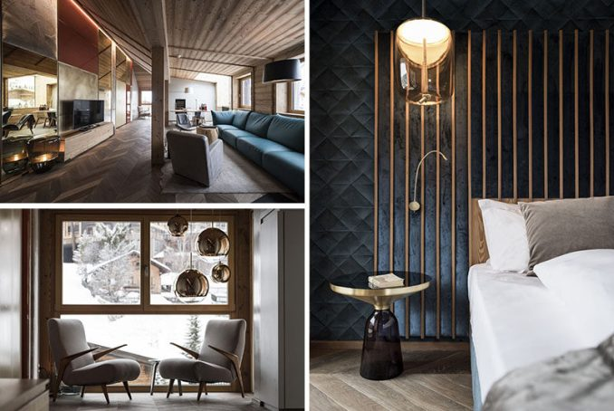 Milanese architecture and interior design studio Vudafieri-Saverino Partners, have recently completed the design of a new penthouse at the Rosa Alpina Hotel & Spa. #Travel #Hotel #Italy