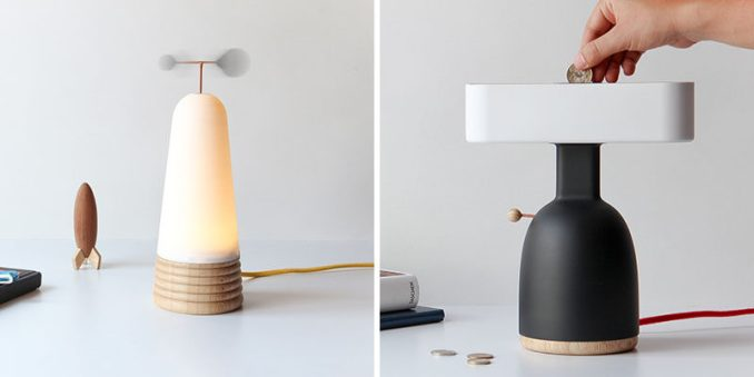 Kelly Durango and Mauricio Sanin of MOAK Studio have created two prototype lamps that need additional actions other than turning on a switch to work. #Lighting #Design