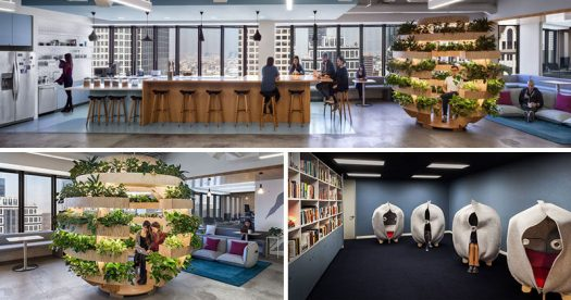 Interior designer Kelly Robinson has recently completed the design of the new and modern offices of JOANY in Los Angeles, California. #OfficeDesign #Workplace #InteriorDesign