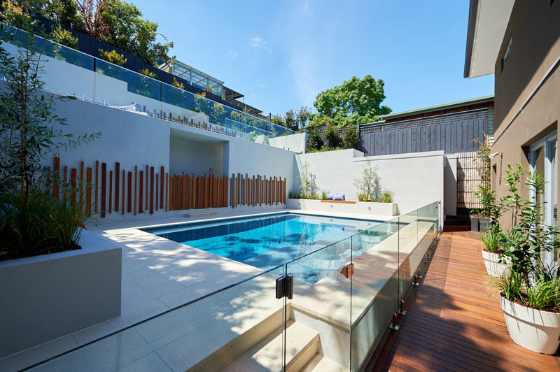 Before & After - A Backyard Mess Was Transformed Into A ... on Modern Backyard Ideas With Pool id=84312