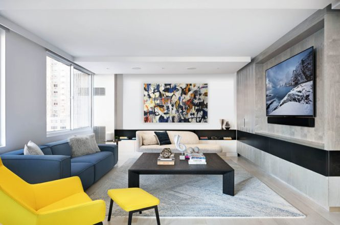 Two Apartments Were Combined To Create This One Large