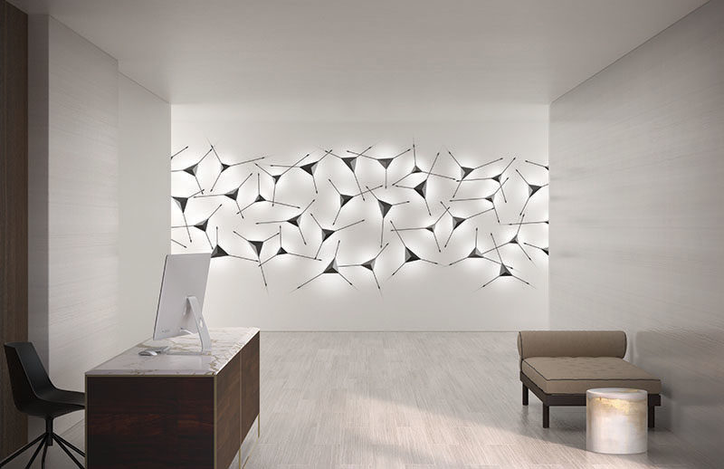 Lighting Ideas - This Modern Sconce Doubles As Wall Art on Wall Sconce Lighting Decor id=33157
