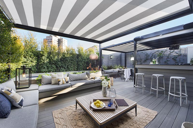 As part of the design of an apartment in Barcelona, Egue y Seta created an outdoor terrace that's ideal for entertaining.