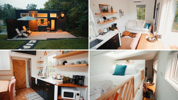A modern tiny house in Ohio, designed with Nordic/Scandinavian influences throughout.