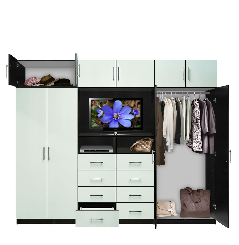 Aventa TV Wall Unit X Tall 10 Door Wall Unit For Bedrooms Contempo Space