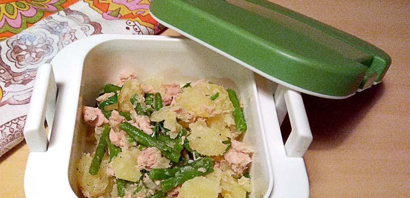 Insalata patate fagiolini e tonno