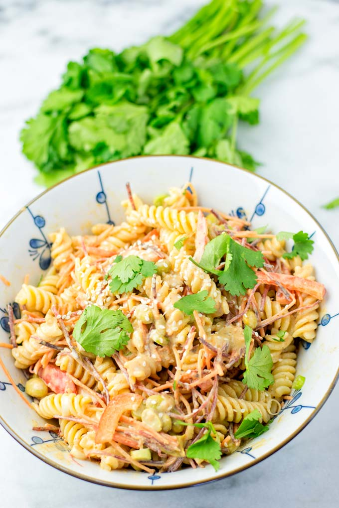Cilantro makes a great addition to this Thai Noodle Salad.