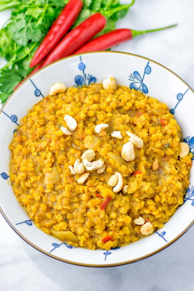 Male amazing vegetarian Indian food.