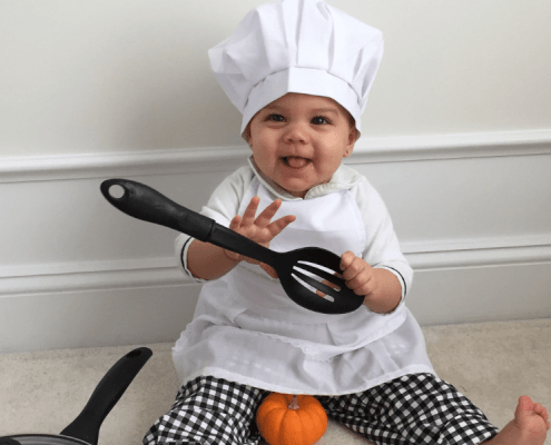 young child chef