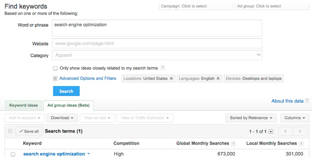 optimize content, keywords, CMI